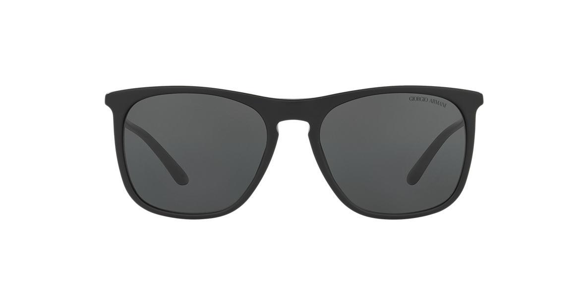 GIORGIO ARMANI Black Matte AR8076 55 Grey lenses 55mm