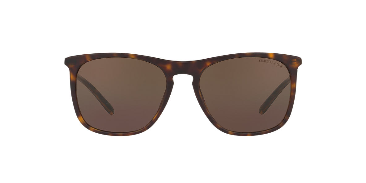 GIORGIO ARMANI Tortoise Matte AR8076 55 Brown lenses 55mm