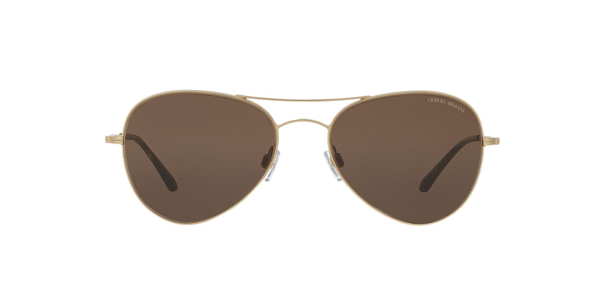 GIORGIO ARMANI Gold AR6035 54 Brown lenses 54mm