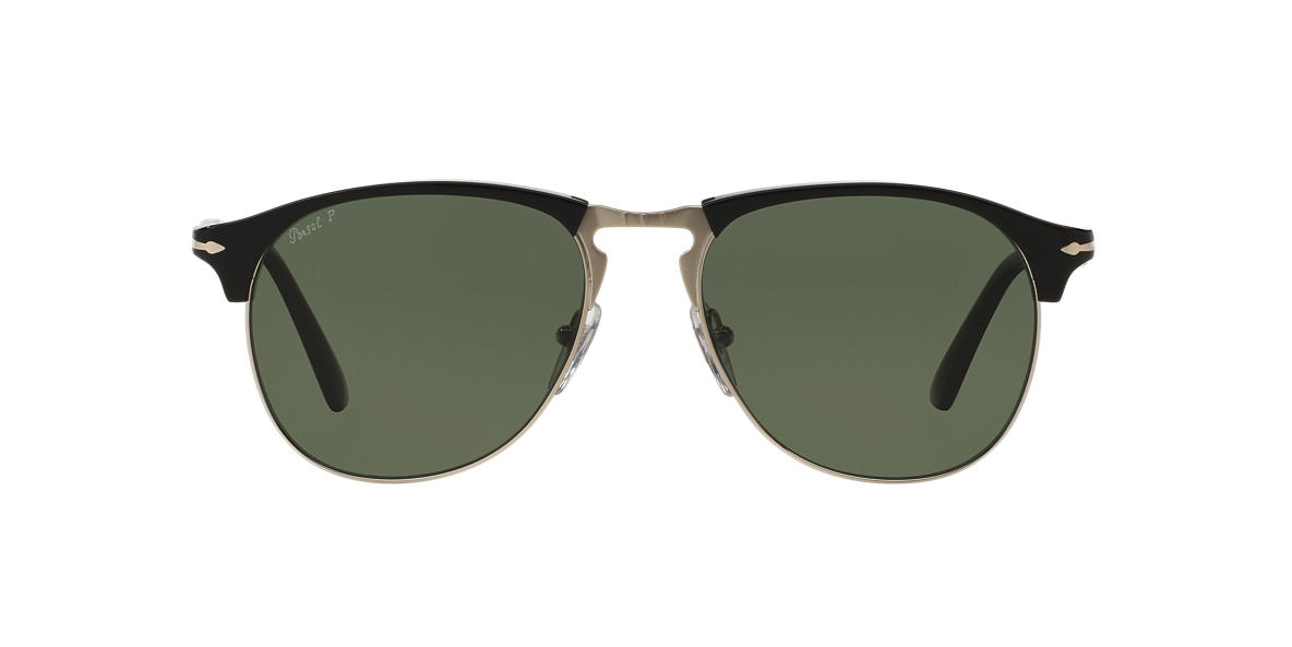 PERSOL Black PO8649S 53 Green polarized lenses 53mm