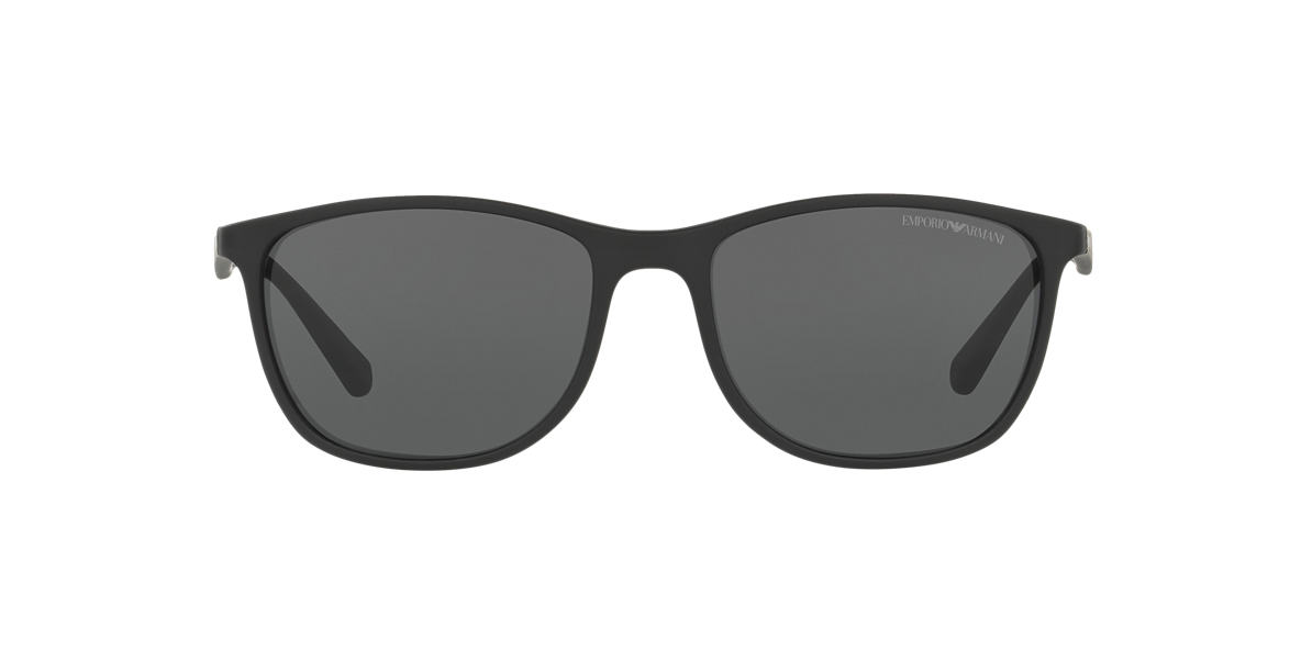 EMPORIO ARMANI Black Matte EA4074 56 Grey lenses 56mm