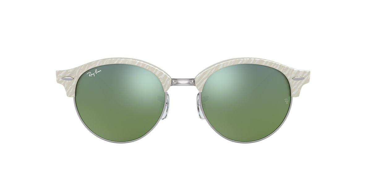 RAY-BAN White RB4246 51 Green lenses 51mm