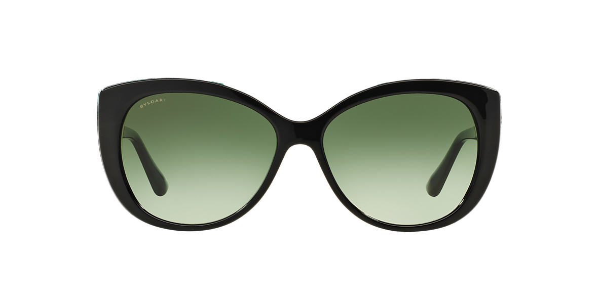 BVLGARI SUN Black Shiny BV8169Q 57 Green lenses 57mm