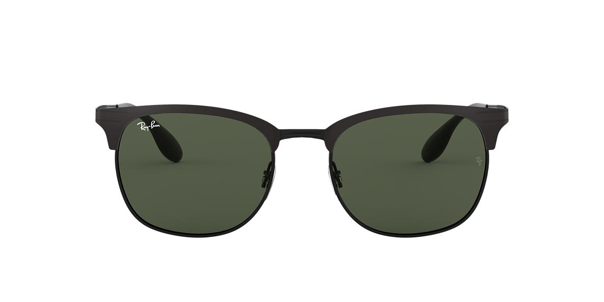 RAY-BAN Black Matte RB3538 53 Green lenses 53mm