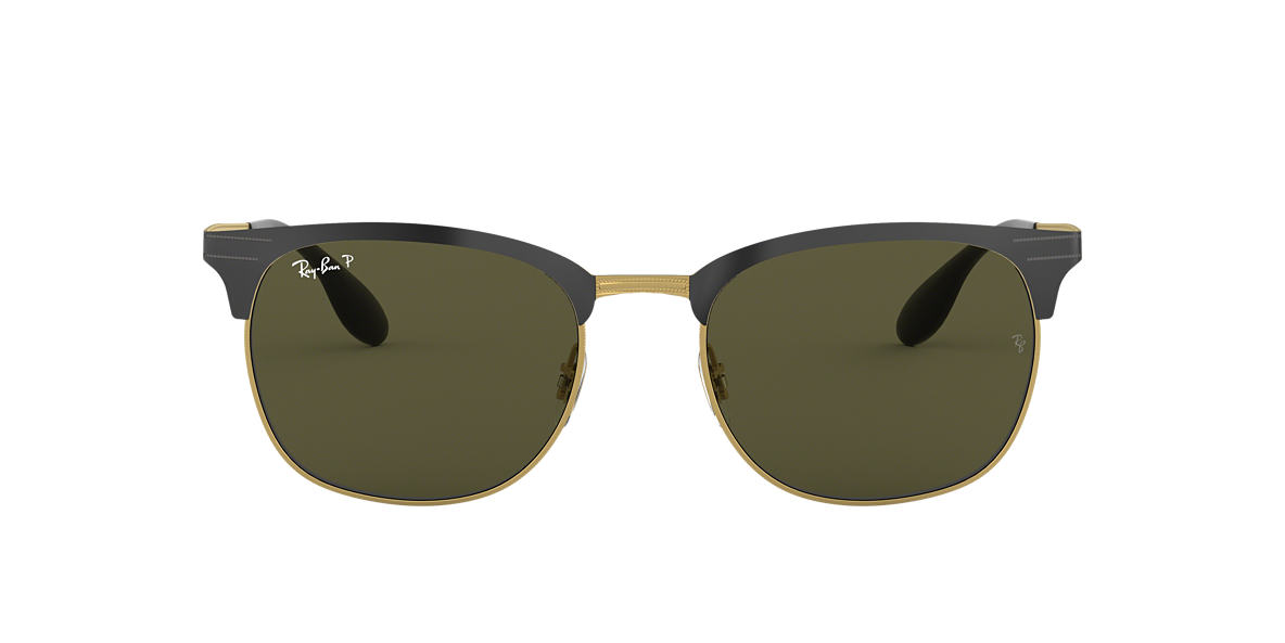 RAY-BAN Black RB3538 53 Green polarized lenses 53mm