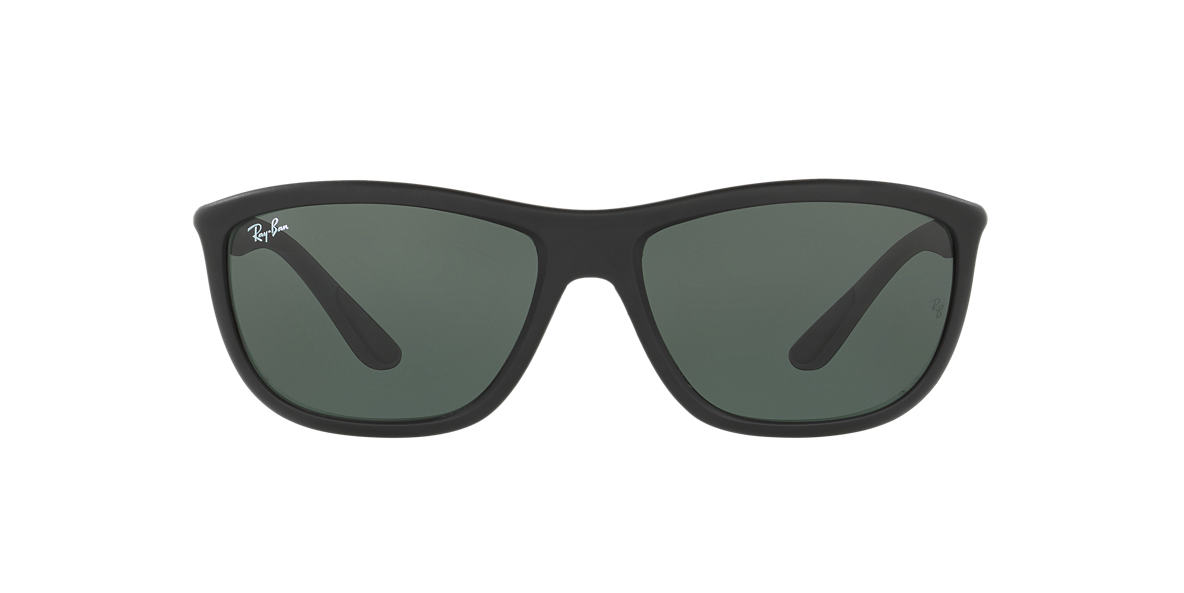 RAY-BAN Black Matte RB8351 60 Green lenses 60mm