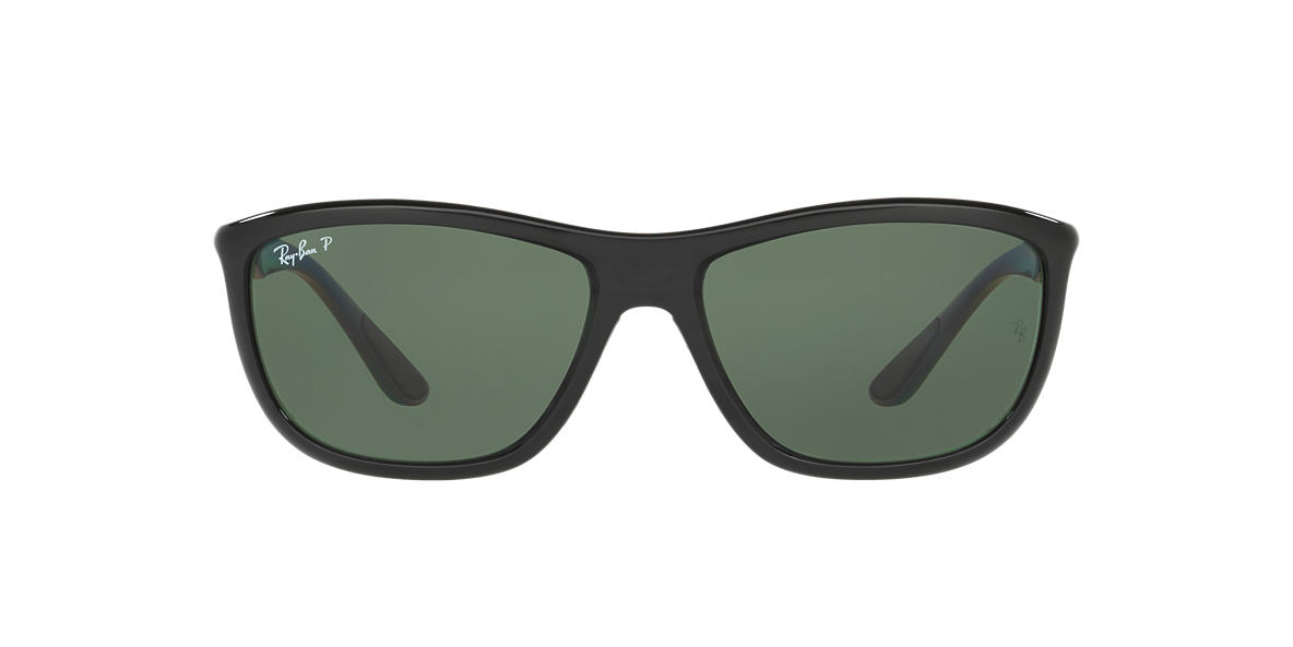 RAY-BAN Black RB8351 60 Green polarized lenses 60mm