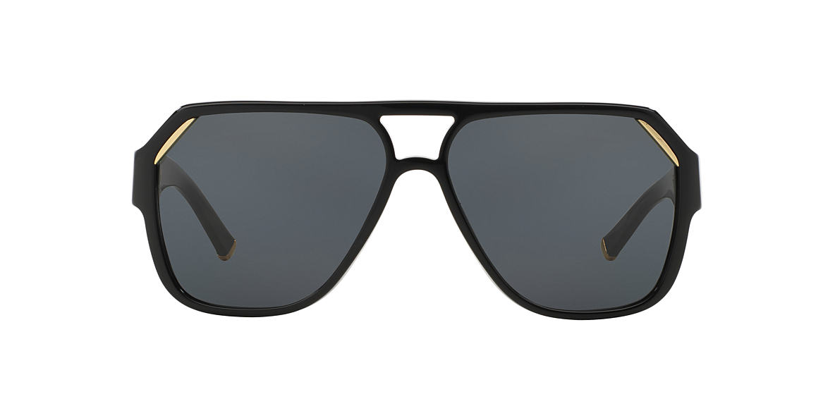 DOLCE and GABBANA Black DG4138 Grey polarized lenses 62mm