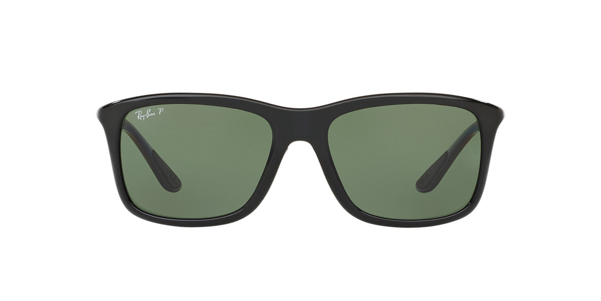 RAY-BAN Black RB8352 57 Green polarized lenses 57mm