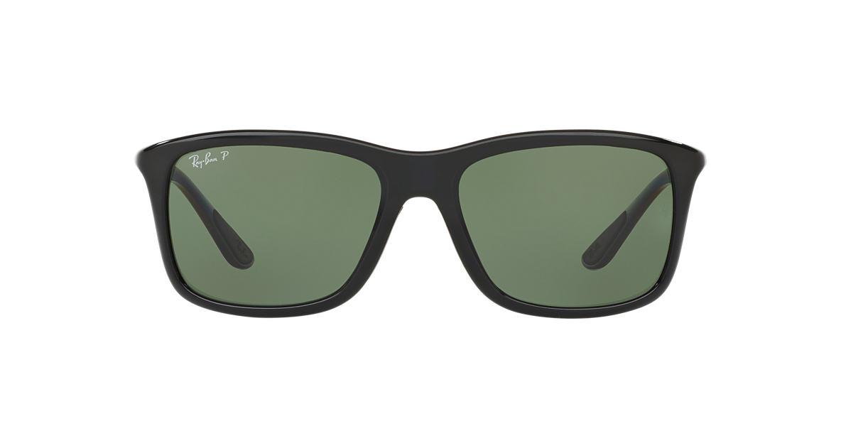RAY-BAN Black RB8352 Green polarised lenses 57mm