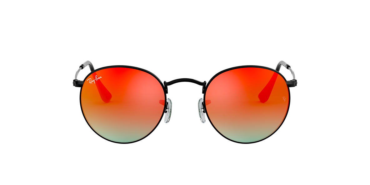 RAY-BAN Black RB3447 Red lenses 50mm