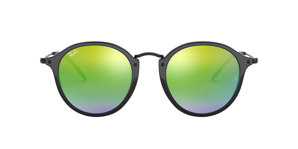 RAY-BAN Black RB2447 49 Green lenses 49mm
