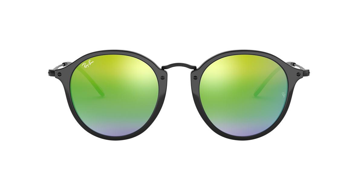 RAY-BAN Black RB2447 Green lenses 49mm