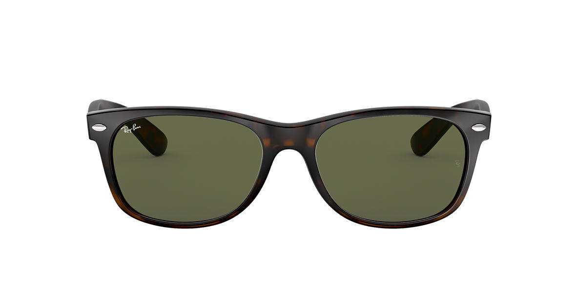 RAY-BAN Brown RB2132 58 NEW WAYFARER Green lenses 58mm