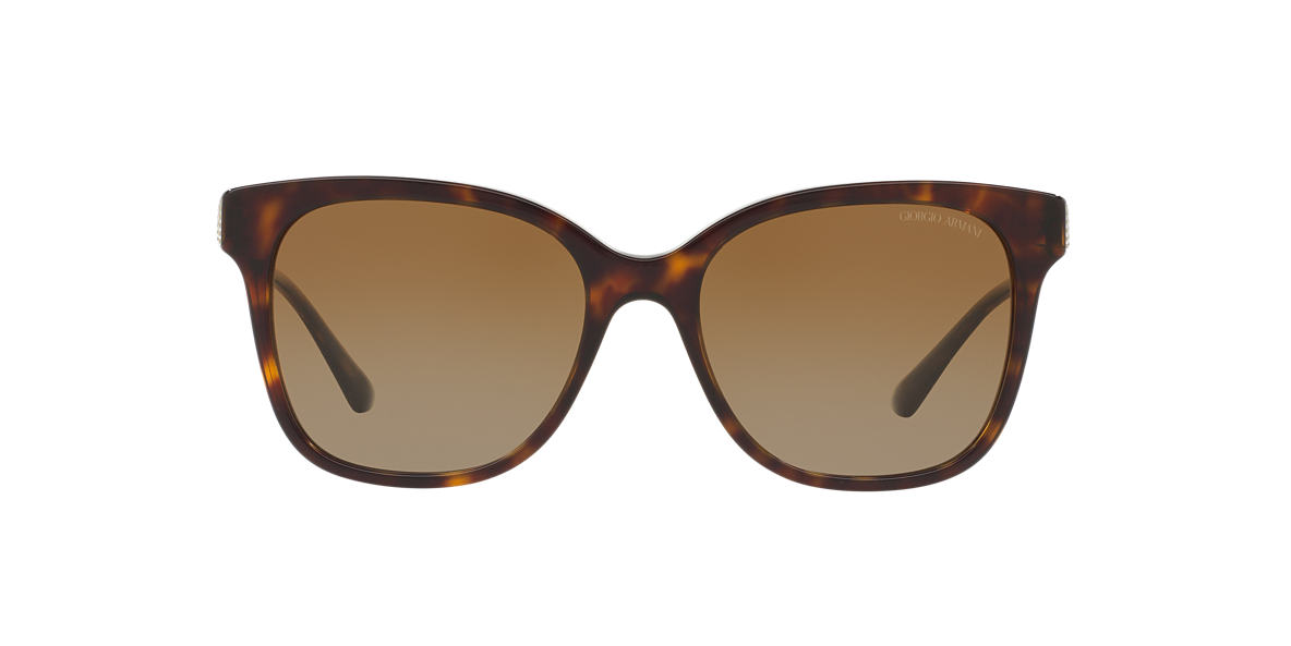 GIORGIO ARMANI Tortoise AR8074 54 Brown polarized lenses 54mm
