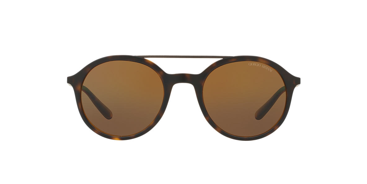 GIORGIO ARMANI Tortoise Matte AR8077 50 Brown polarized lenses 50mm