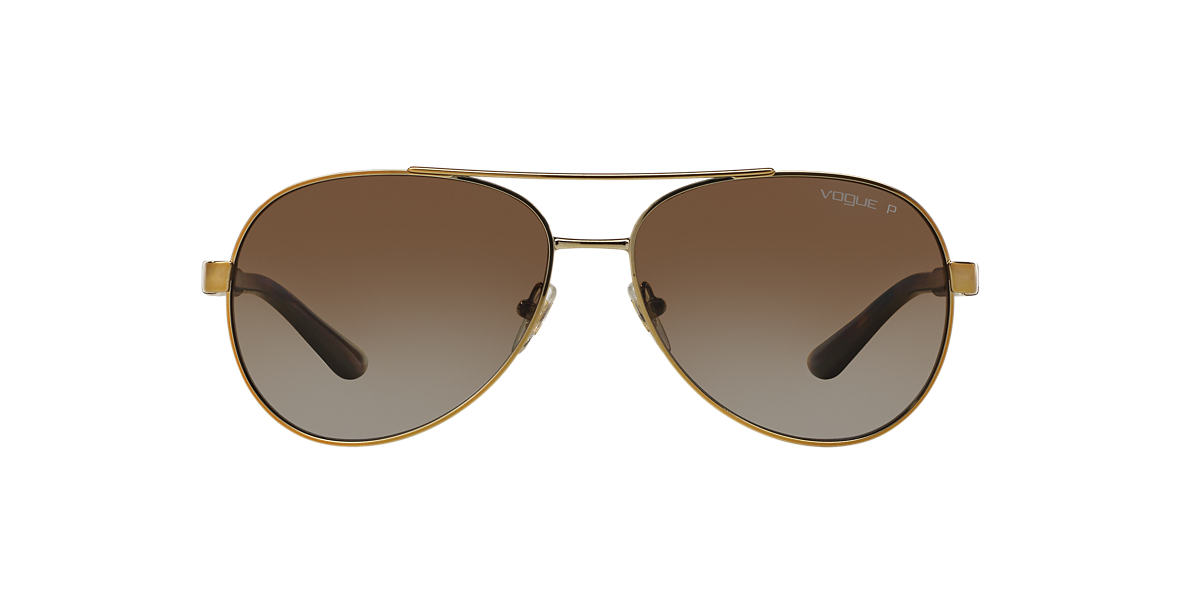 VOGUE Gold VO3997S Brown polarised lenses 58mm