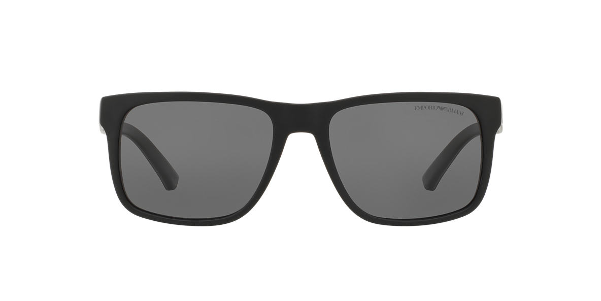 EMPORIO ARMANI Black Matte EA4071 56 Grey polarized lenses 56mm