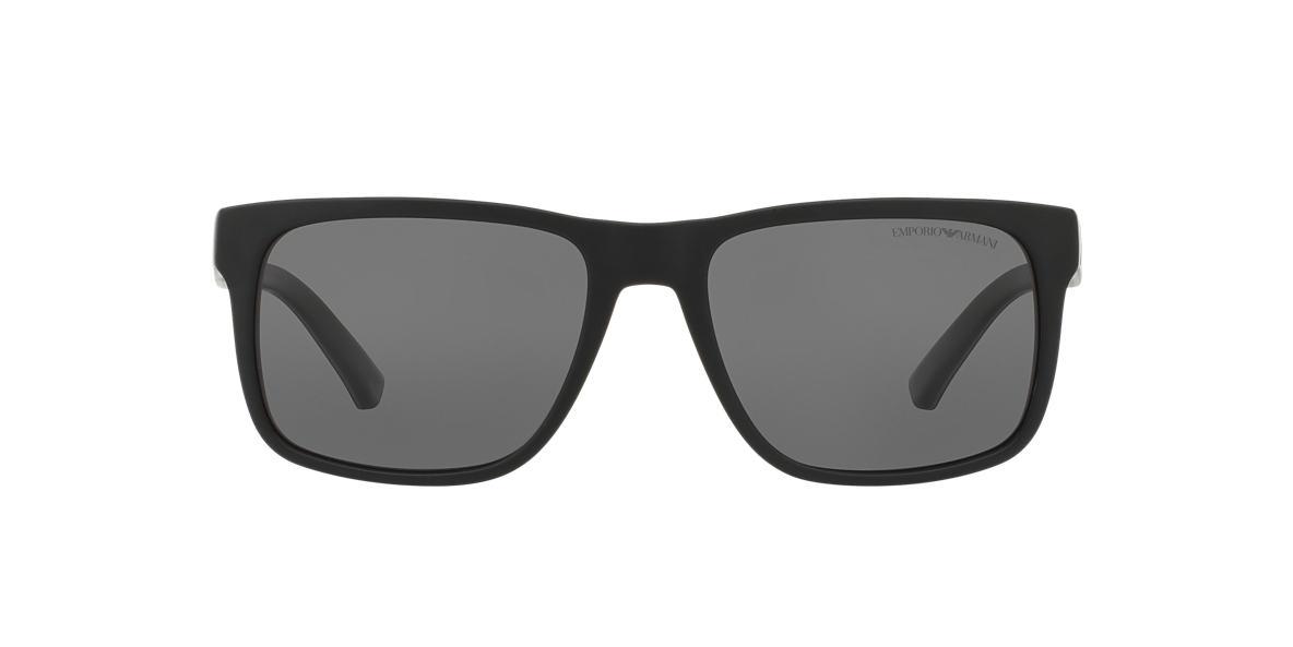 EMPORIO ARMANI Black Matte EA4071 56 Grey polarized lenses 56mm