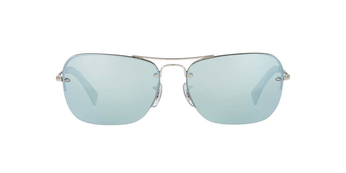 RAY-BAN Silver RB3541 61 Green lenses 61mm