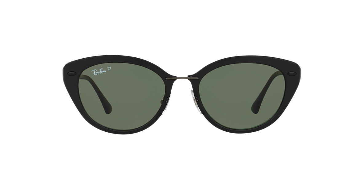 RAY-BAN Black Matte RB4250 52 Green polarized lenses 52mm