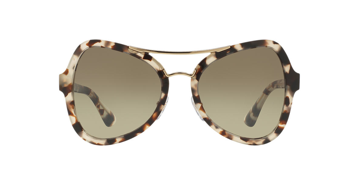 PRADA Brown PR 18SS 55 Green lenses 55mm