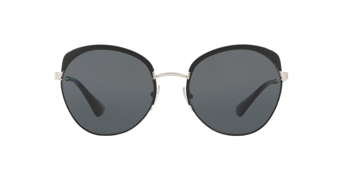 PRADA Black PR 54SS 59 Grey polarized lenses 59mm