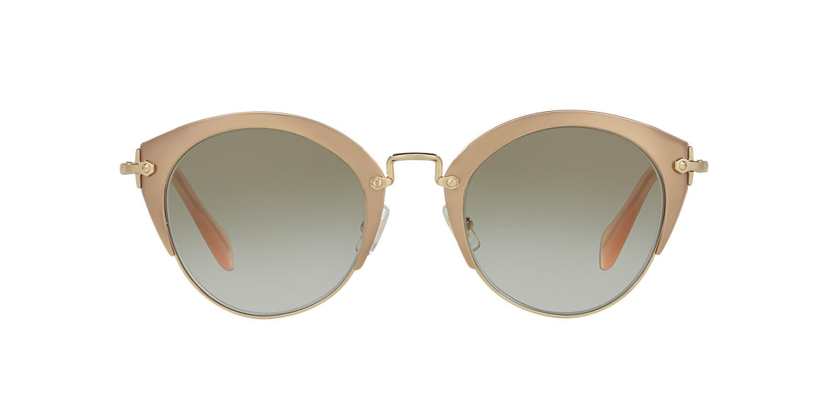 MIU MIU Rose Gold MU 53RS 52 Brown lenses 52mm