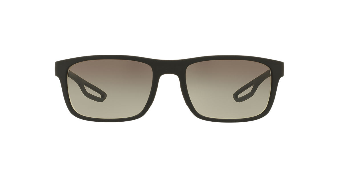 PRADA LINEA ROSSA Black PS 03RS 56 Grey lenses 56mm