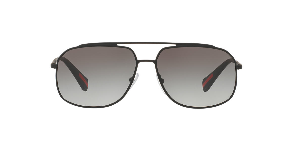 PRADA LINEA ROSSA Black PS 56RS 60 Grey lenses 60mm