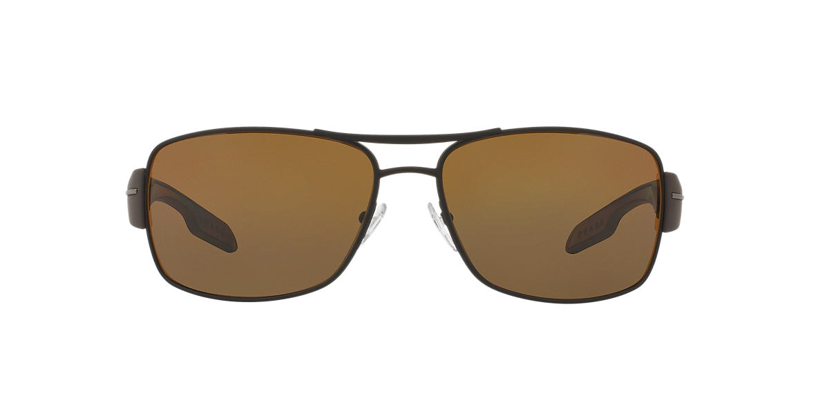 PRADA LINEA ROSSA Brown PS 53NS Brown polarized lenses 65mm