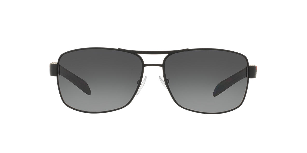 PRADA LINEA ROSSA Black PS 54IS Grey polarized lenses 65mm