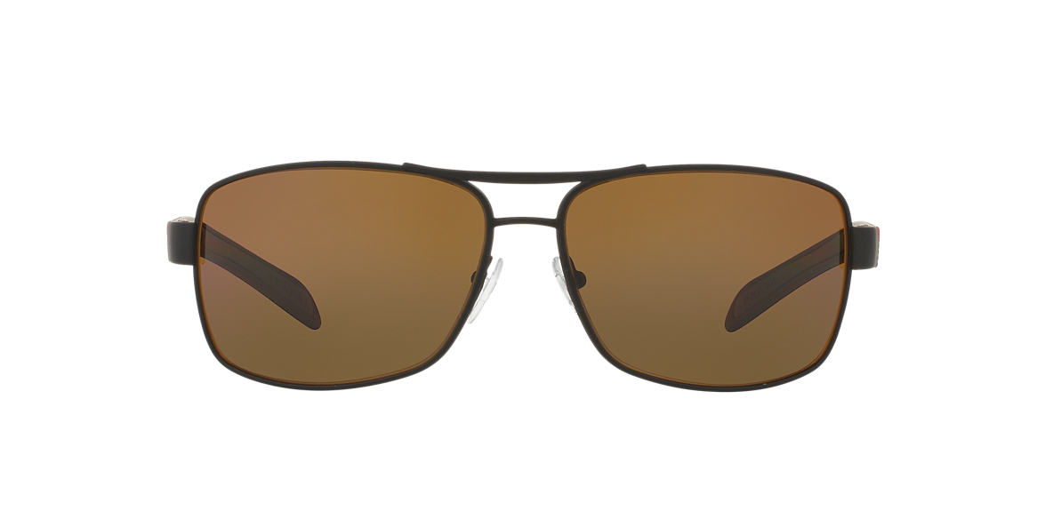 PRADA LINEA ROSSA Brown PS 54IS Brown polarized lenses 65mm