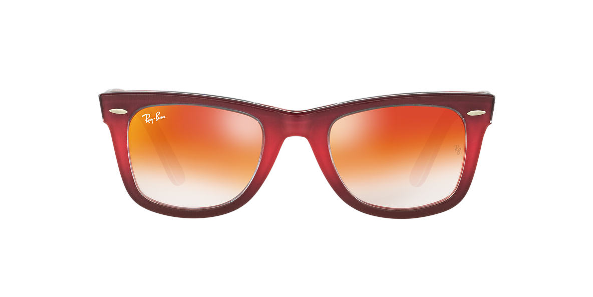 RAY-BAN Brown RB2140 50 ORIGINAL WAYFARER Red lenses 50mm