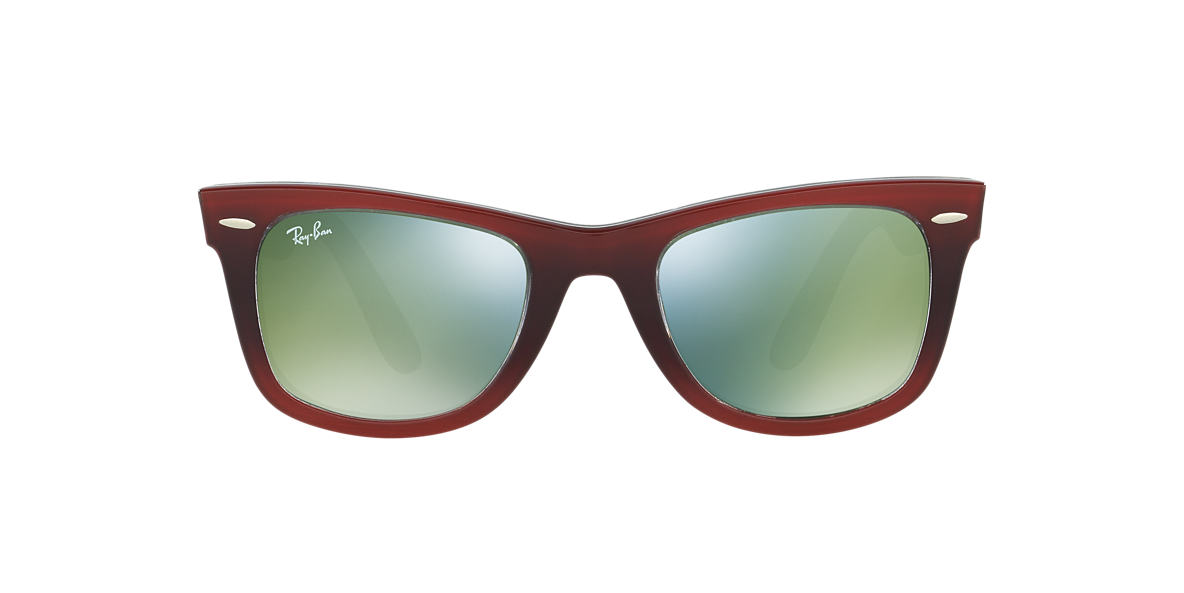 RAY-BAN Red RB2140 50 ORIGINAL WAYFARER Green lenses 50mm