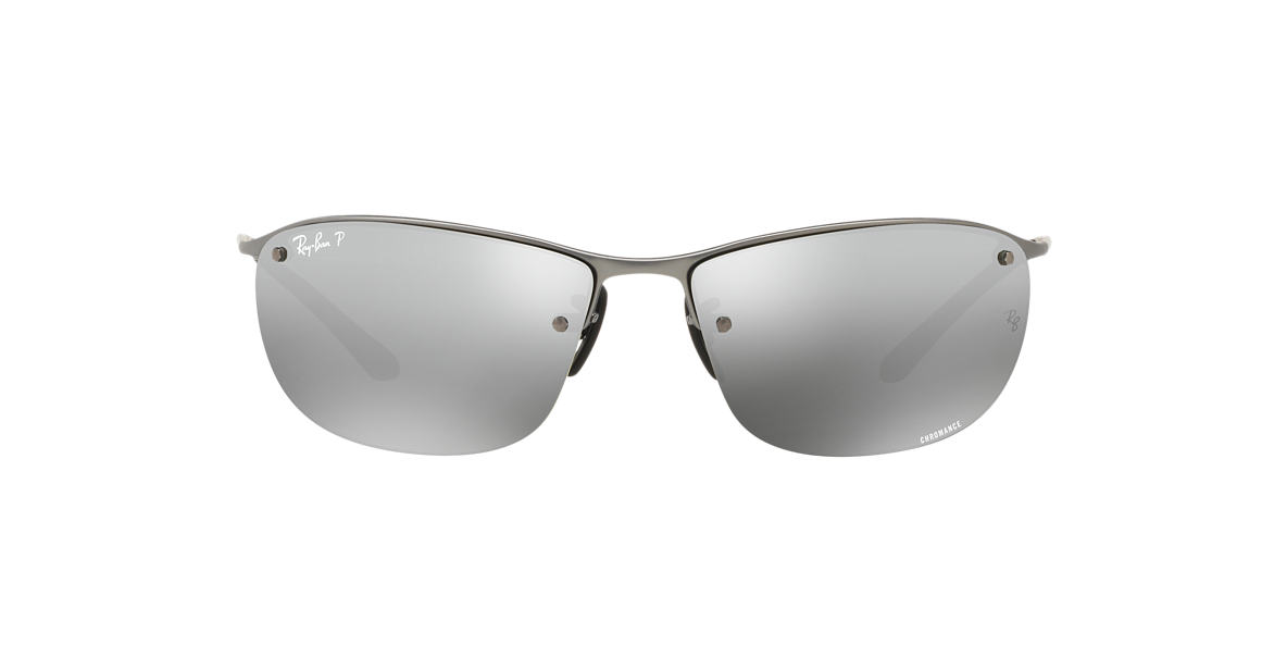 RAY-BAN Gunmetal Matte RB3542 63 Grey polarized lenses 63mm