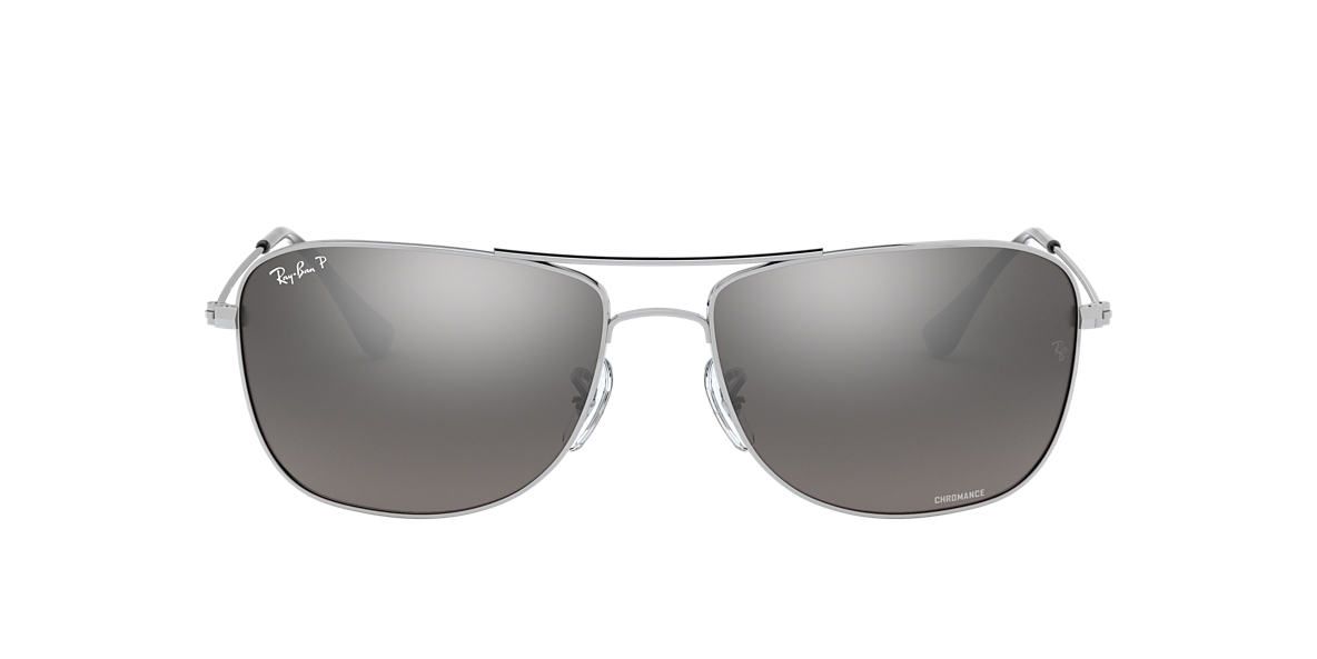 RAY-BAN Silver RB3543 59 Grey polarized lenses 59mm