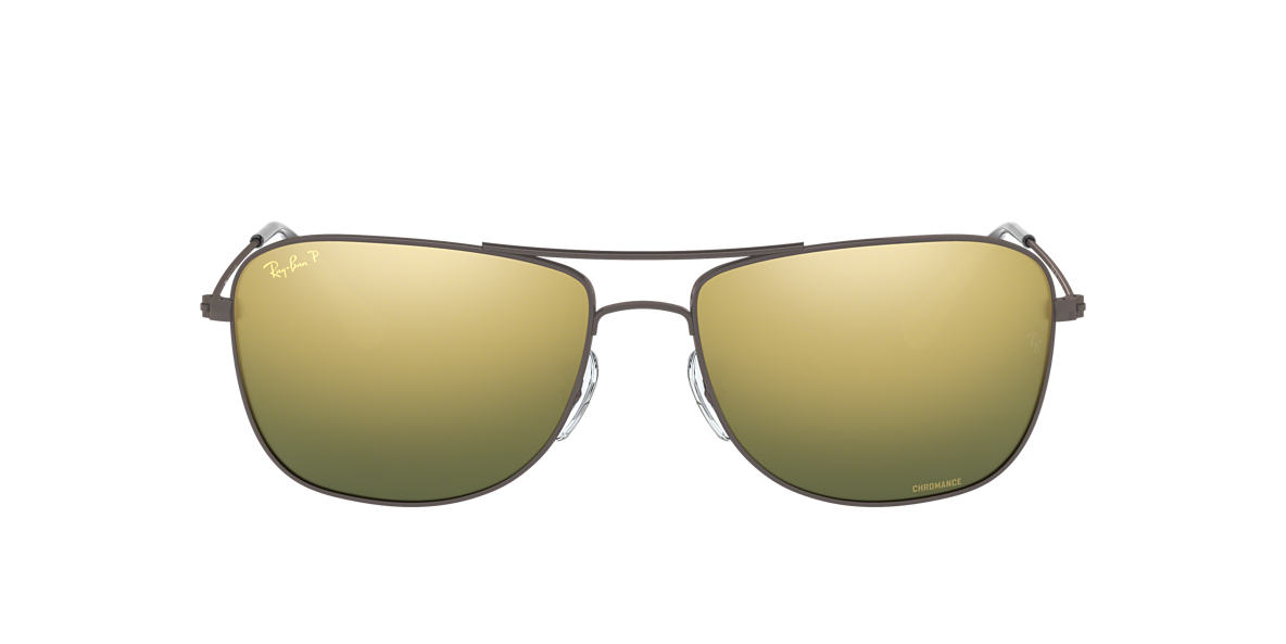 RAY-BAN Gunmetal Matte RB3543 59 Green polarized lenses 59mm