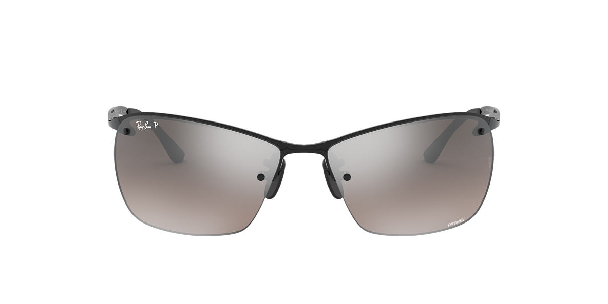 RAY-BAN Black RB3544 64 Grey polarized lenses 64mm