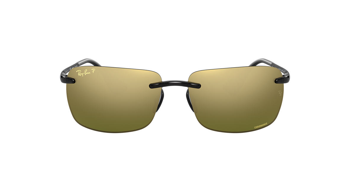 RAY-BAN Grey RB4255 60 Green polarized lenses 60mm