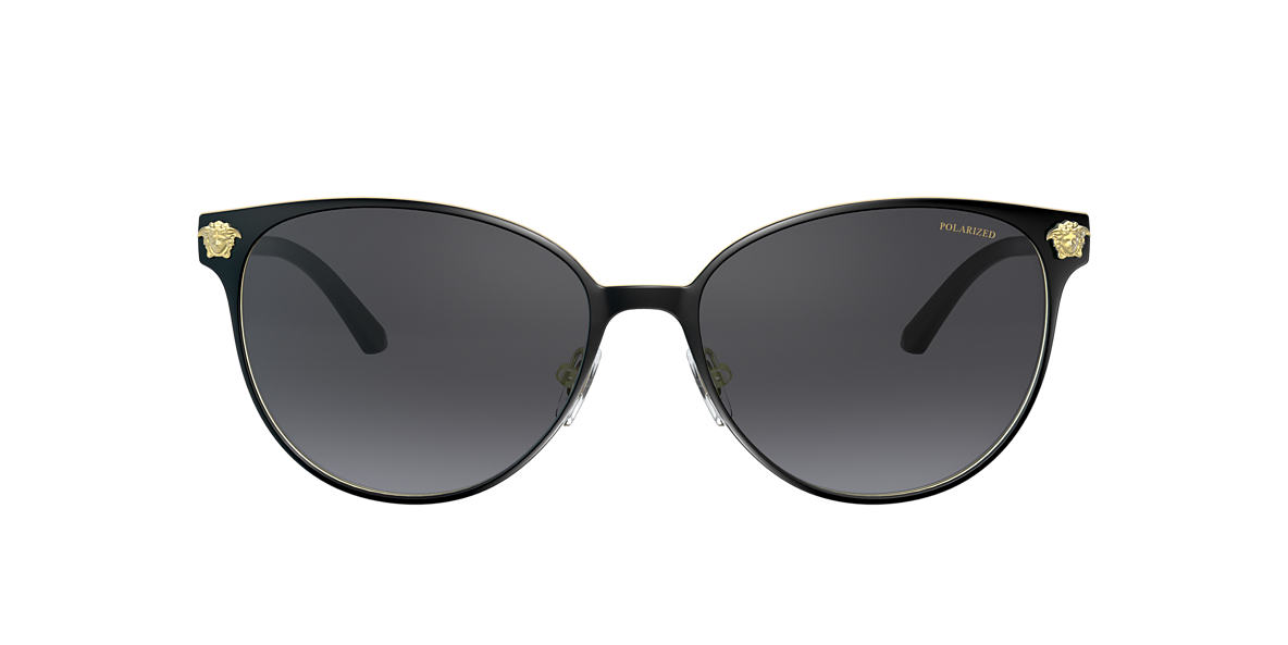 VERSACE Black VE2168 57 Grey polarized lenses 57mm