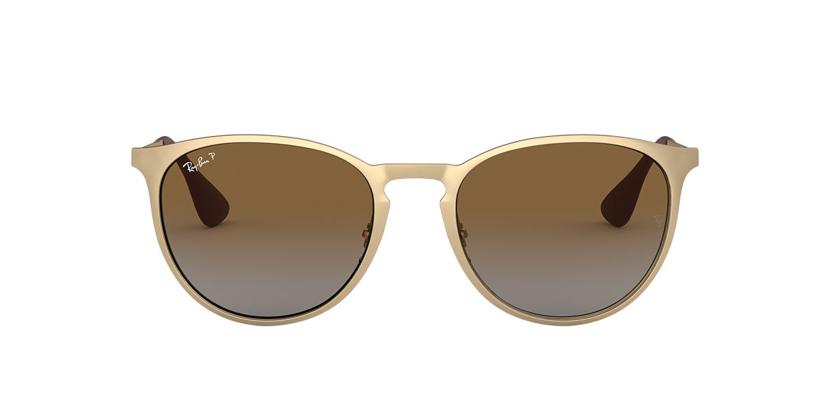 ray ban gold matte rb3539 54 brown polarized lenses 54mm