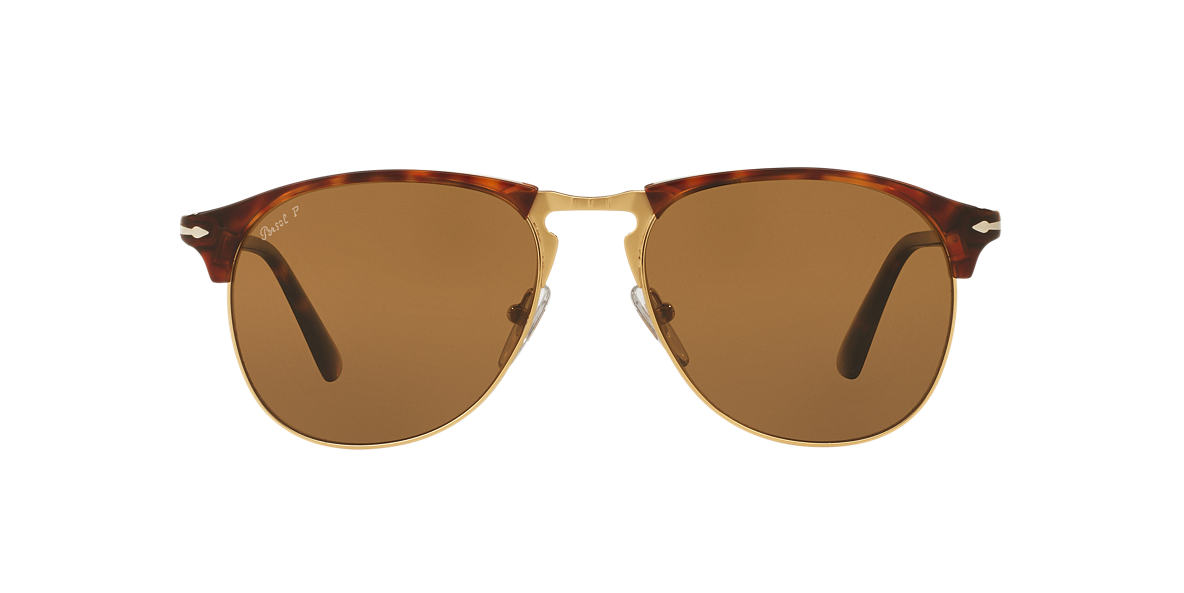 PERSOL Tortoise PO8649S 56 Brown polarized lenses 56mm