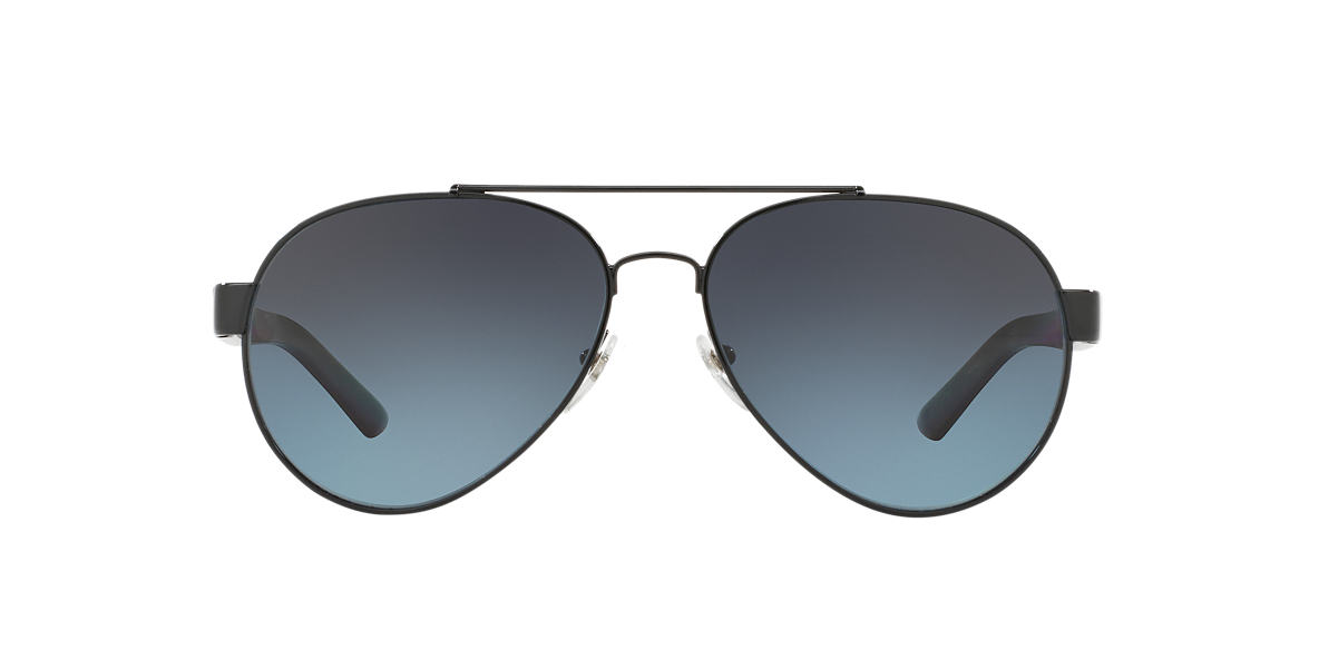 BURBERRY Black BE3086 59 Blue polarized lenses 59mm