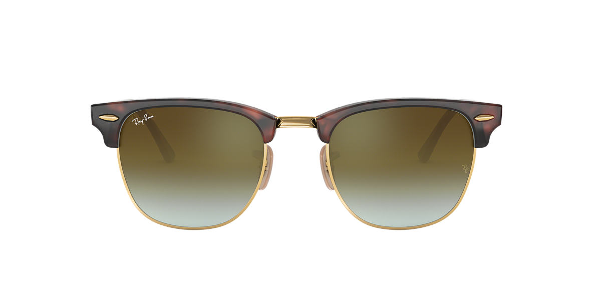 RAY-BAN Tortoise RB3016 49 CLUBMASTER Green lenses 49mm