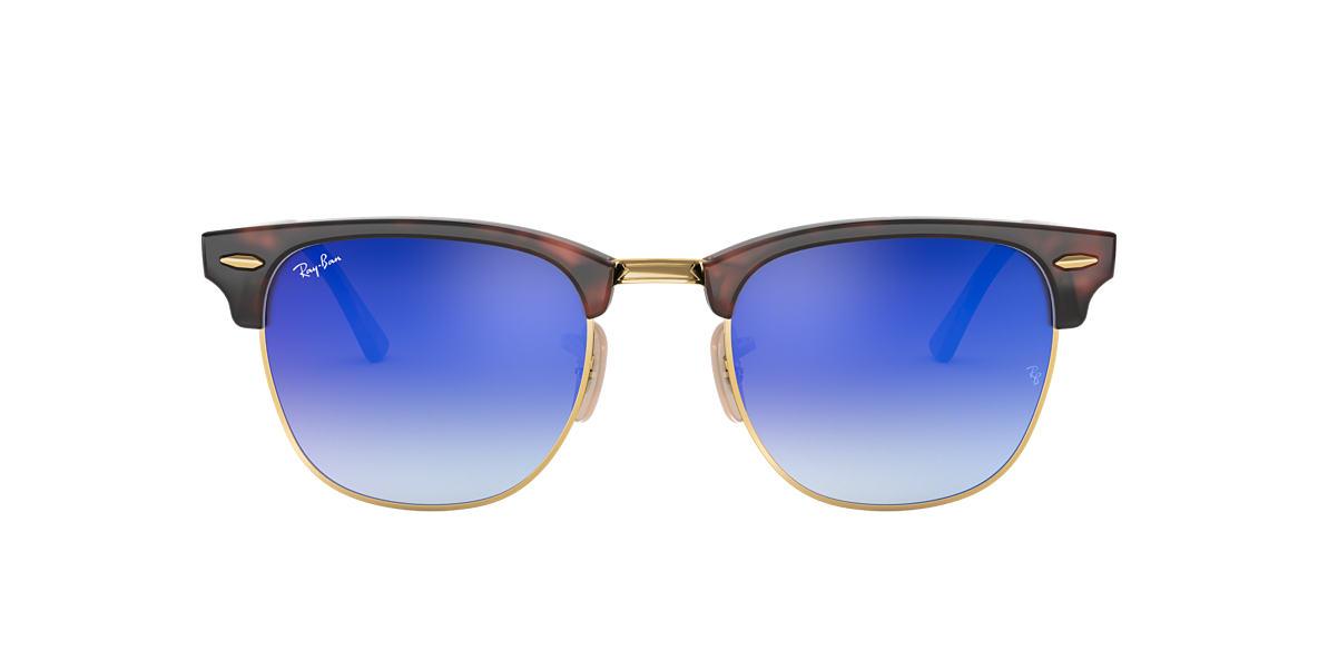 RAY-BAN Tortoise RB3016 49 CLUBMASTER Blue lenses 49mm