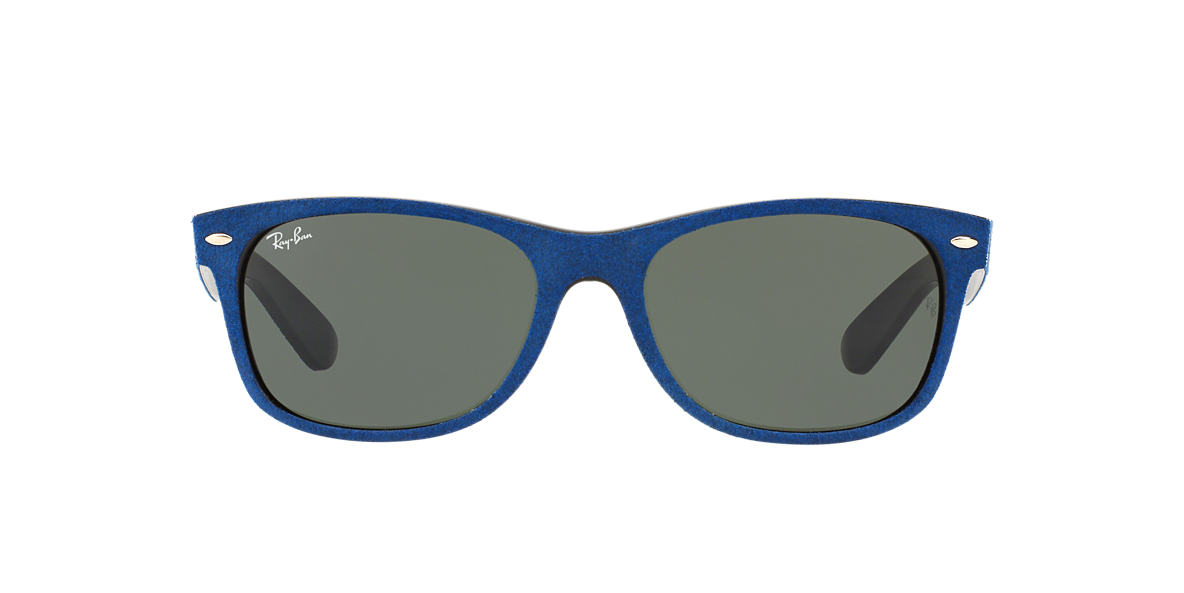 RAY-BAN Blue RB2132 58 NEW WAYFARER Green lenses 58mm