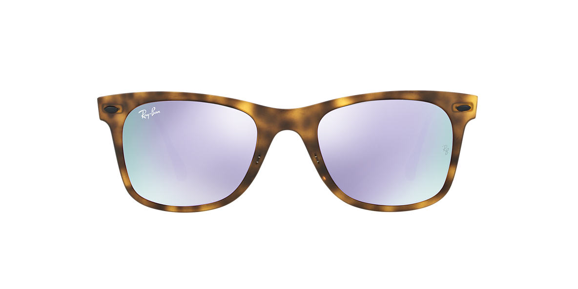 RAY-BAN Tortoise Matte RB4210 50 LIGHT RAY Purple lenses 50mm