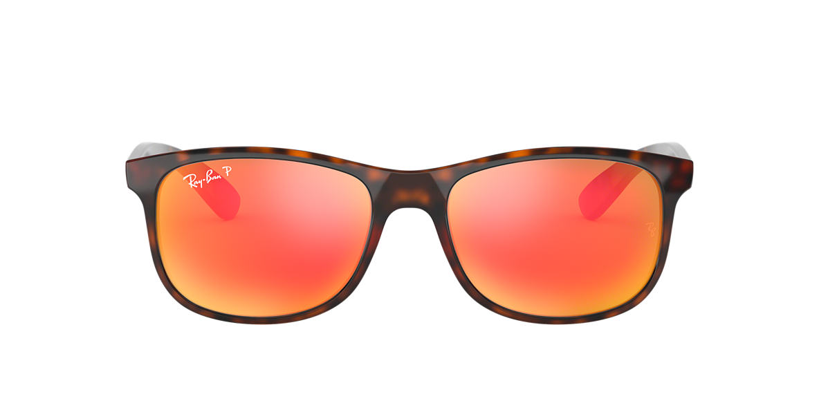 RAY-BAN Tortoise RB4202 55 ANDY Orange polarized lenses 55mm
