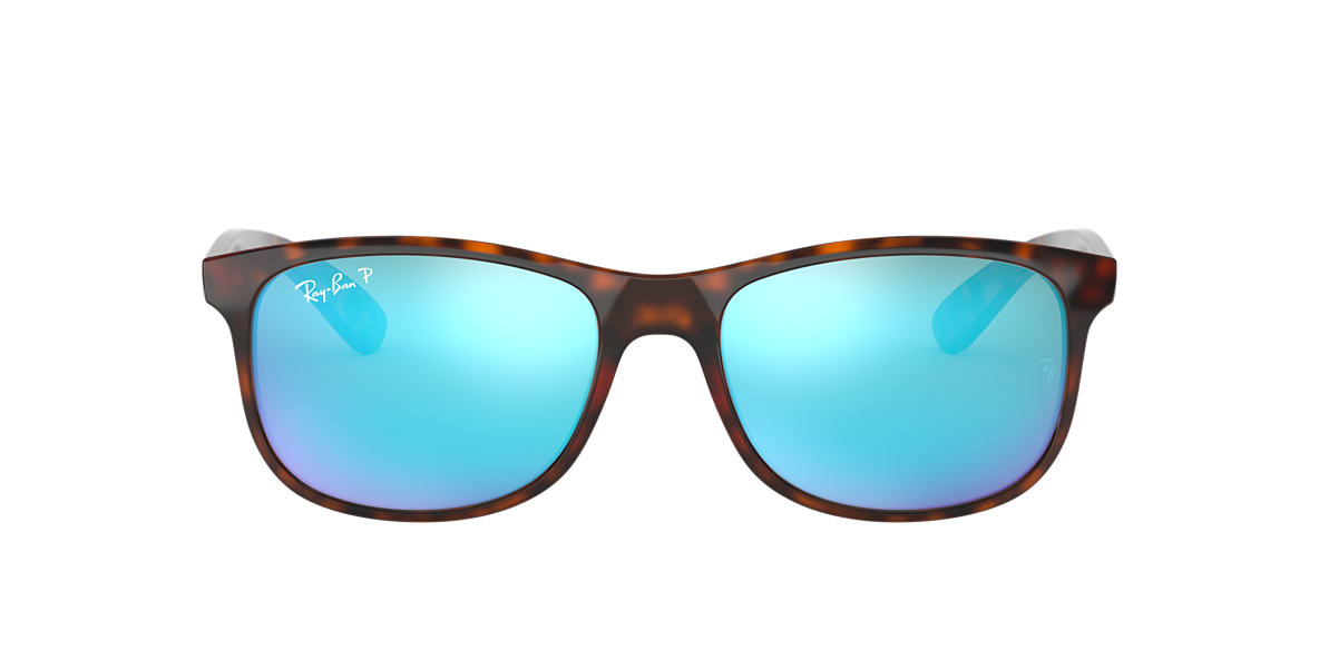 RAY-BAN Tortoise RB4202 55 ANDY Silver polarized lenses 55mm